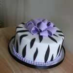 zeebra print bachelorette party cake